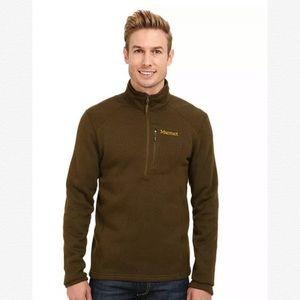 NWT Marmot Drop Line 1/2 Zip Knit Fleece Pullover